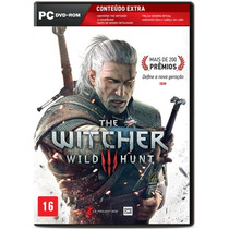 The Witcher 3 Pc Dvd +dlcs+ Brindes Ed Brasil Lacrado Ptbr