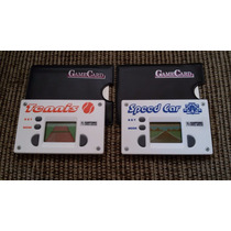 2 Mini Lcd Game Dec 80 90 Card - Speedy Car E Tennis - Raros