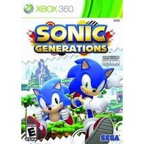 Sonic Generations Mídia Física Xbox 360 Jogável Em 3d Novo