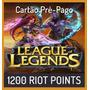 League Of Legends Lol - 1200 Riot Points Rp - Envio Na Hora