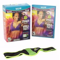 Zumba Fitness World Party Com Zumba Belt Novo Lacrado Wii U