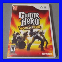 Guitar Hero Wii World Tour Wii U Original Lacrado Rock Band