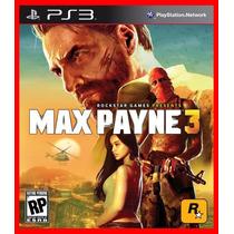 Max Payne 3 Ps3 Psn Portugues Br Promocao!!