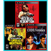 Combo Red Dead Redemption +undead + Re Code Veronica Ps3 Psn