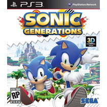 Sonic Generations Jogo Ps3 Original Lacrado