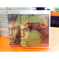 Jogo Yakuza 3 Playstation 3, Jogo Original, Mídia Fisica