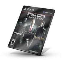 Conjunto Thief, Hitman E Deus Ex Ps3 Digital Envio Em 24 Hs
