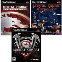 Mortal Kombat Ps2 Patch (kit C/ 3 Jogos) Frete Grátis