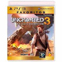 Jogo Uncharted 3 Drakes Deception Ps3 Novo Lacrado
