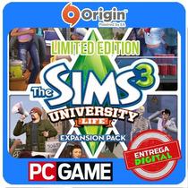 The Sims 3 University Life Limited Edition Ea Origin Cd-key