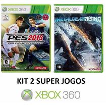 Pes 2013 / 13 + Metal Gear Rising - Xbox 360 - Midia Fisica