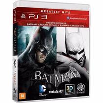 Batman Arkham Asylum + City Ps3 Pacote Duplo Rcr Games