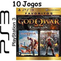 10 Jogos Ps3 God Of War Colletion Midia Física Lacrado Nf