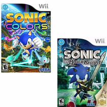 Combo Sonic N The Black Knight + Sonic Colors Wii Rcr Games
