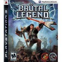 Brutal Legend - Jogo Ps3 - Em Disco - Playstation 3