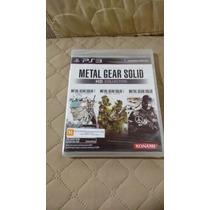 Metal Gear Solid Hd Collection Ps3 - Mídia Física - Lacrado