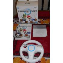 Boxset Super Mario Kart Wii + Volante Completo