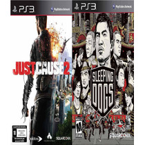 Just Cause 2 + Sleeping Dogs Ps3 Psn Digital Stars Gamesjr