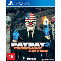 Jogo Novo Payday 2 Crimewave Edition Para Playstation 4 Ps4