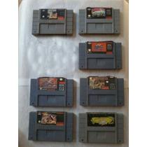 Fitas Super Nintendo 7 Cartuchos,unid R$. 50,00