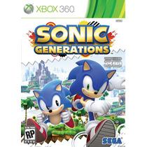 Sonic Generations Mídia Física Lacrado - Xbox 360