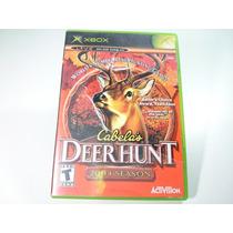 Jogo Xbox Primeira Geração - Cabelas Deer Hunt 2004 Season