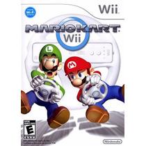 Mario Kart Wii Completo + Volante Original