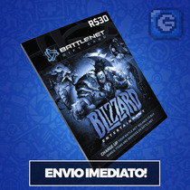 Wow, Starcraft, Diablo, Overwatch, Saldo Battle.net R$ 30,00