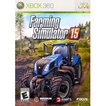 Jogo Novo Lacrado Farming Simulator 15 Para Xbox 360