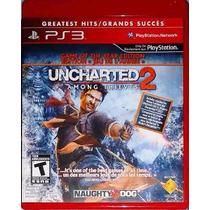 Uncharted 2 Among Thieves Blu-ray Mídia Física Original Ps3