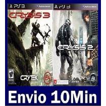 Crysis 2 E 3 Ps3 Código Psn