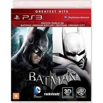 Batman Arkham City Port+ Batman Asylum Mídia Física Ps3 Novo