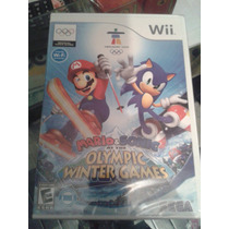 Mario & Sonic At The Olympic Winter Games - Wii / Wiiu -novo