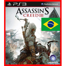 Assassins Creed Iii Ac3 Ps3 Psn Dublado Portugues Br