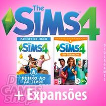 The Sims 4 + Todas Expansões E Pacotes - Portugues