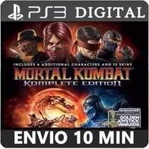 Mortal Kombat Komplete Edition Psn Ps3 Digital