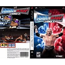 Jogo Wwe Smackdown Vs. Raw 2007 Original Psp Usado