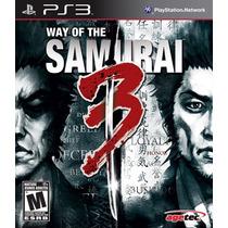 Jogo Ps3 Way Of The Samurai 3 Original Lacrado Original