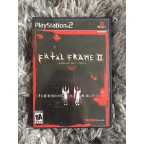 Novo Jogo Fatal Frame Ii 2 Original Ps2 Cx Mnl 100%
