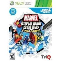 Jogo Udraw Marvel Super Hero Squadcomic Combat Xbox360 Midia