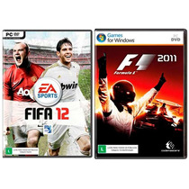 Kit 2 Jogos Fifa 12 + F1 2011 - Pc Dvd - Original E Lacrado!