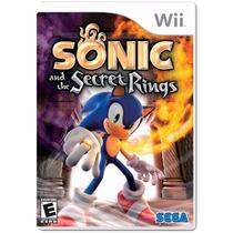 Jogo Sonic And The Secret Rings Wii Lacrado + Pôster Brinde