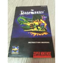 Super Nintendo : Apenas O Manual The Page Master Perfeito Es
