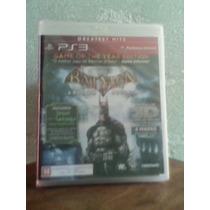 Batman Arkhan Asylum Ps3 Blueray Novo Lacrado Ps3!