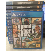 Gta 5 Ps4 Midia Fisica Pt-br Seminovo Playstation 4 Gta5