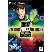 Jogo Ps2 - Ben 10 - Alien Force - Vilgax Attacks