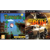 Terraria + Need For Speed The Run Ps3 Psn Midia Digital