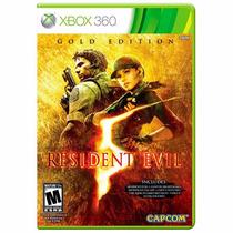Resident Evil 5 Gold Edition Xbox 360 Mídia Física + Brinde