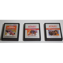 03 Cartuchos De Atari 2600: Pole Position, Football, Et