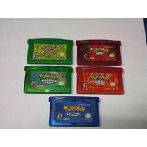 Lote 5 Pokemon Gba Fire Red/leaf Green/emerald/ruby/sapphire